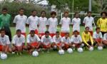 Section sportive Lycée Do Kamo contre les U 17 calédoniens - Victoire 4 à 2 le 17 mars 2013