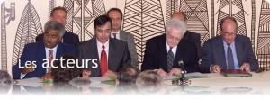Signature de l'Accord de Nouméa en mai 1998