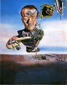 Paul Eluard par Salvdor Dali, huile sur carton. 1929.