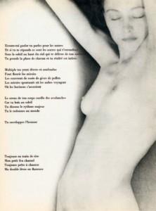 Poème de Paul Éluard. Photographie de Man Ray