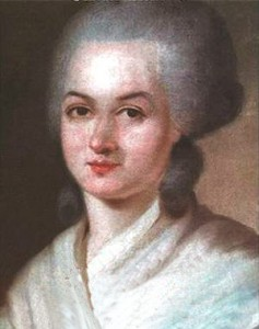 Olympe de Gouges. Portrait.