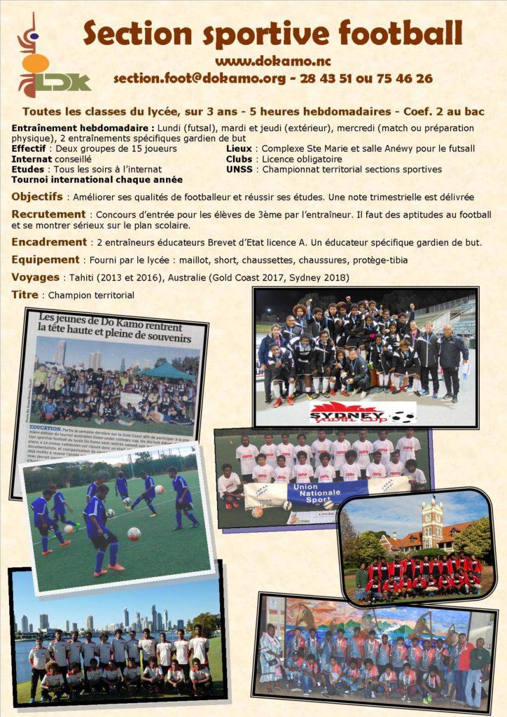 Concours d'entrée Section sportive football