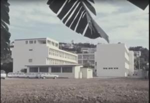 Vue des bâtiments A et B