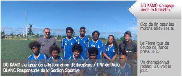 La formation d'entraîneur de foot à Do Kamo à la une du site de la FCF