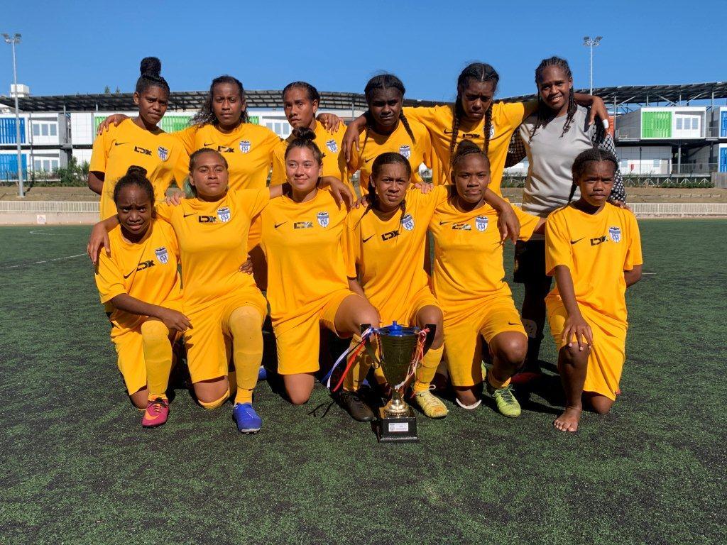 Les filles championnes territoriales en U18